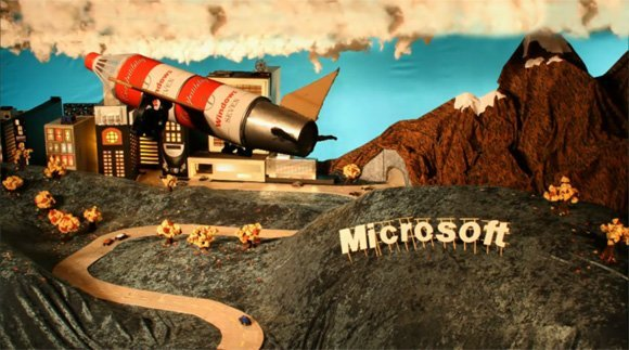 Microsoft se moque d Apple ... en Stop Motion