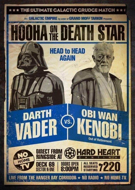 Star Wars revisité en 4 affiches ... sur un ring de catch #3