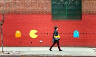 Street Art : Pac-Man à Brooklin