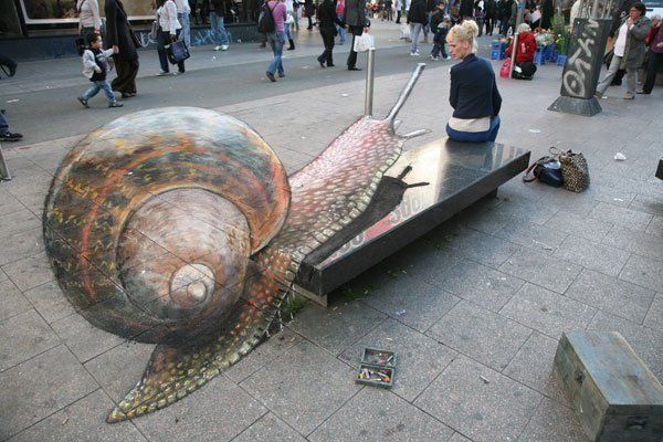 street art les incroyables fresques en trompe l 39 oeil de julian beever. Black Bedroom Furniture Sets. Home Design Ideas