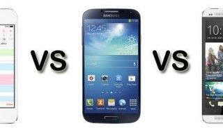 Comparatif iPhone 5S / Samsung Galaxy S4 / HTC One