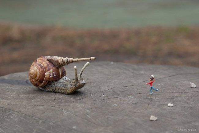 Street Art : Les Little People de Slinkachu se mobilisent contre le chômage #13
