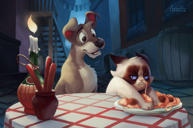 Quand Grumpy Cat trolle les dessins animés Disney #4