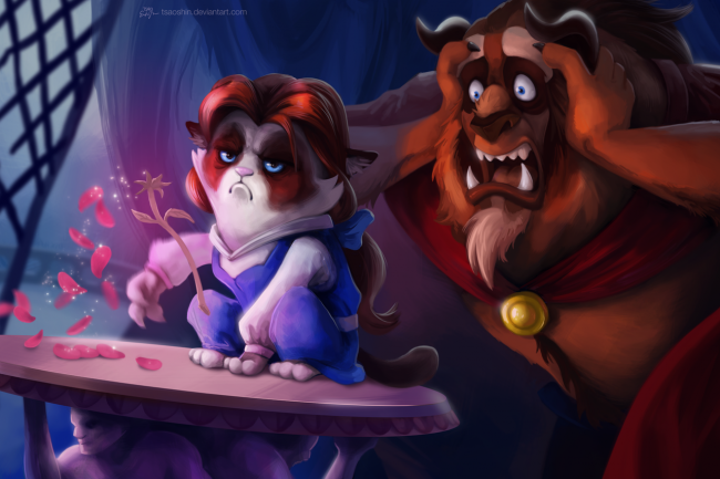 Quand Grumpy Cat trolle les dessins animés Disney #7