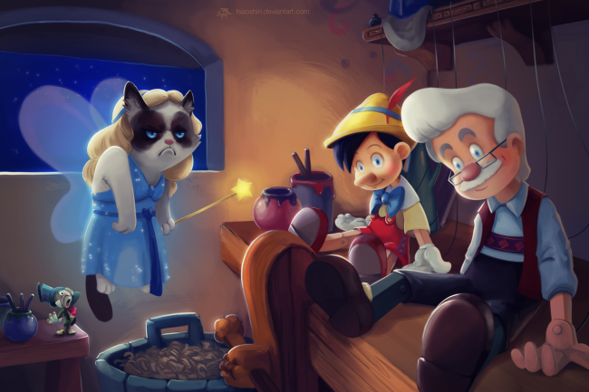 Quand Grumpy Cat trolle les dessins animés Disney #6