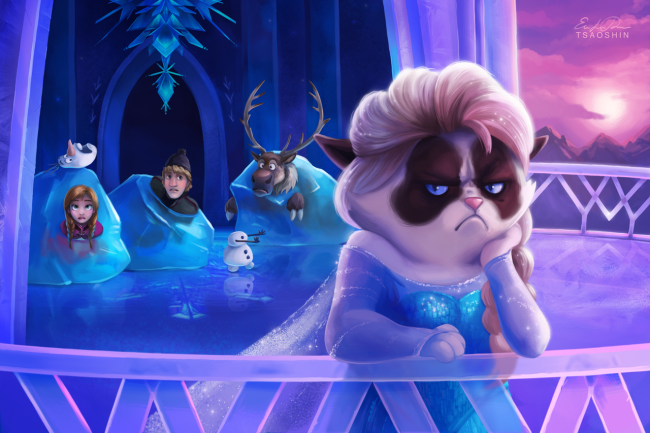 Quand Grumpy Cat trolle les dessins animés Disney #3