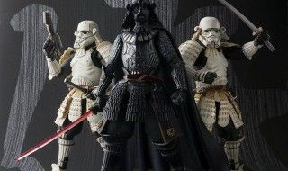 Des figurines Star Wars en version Samuraïs