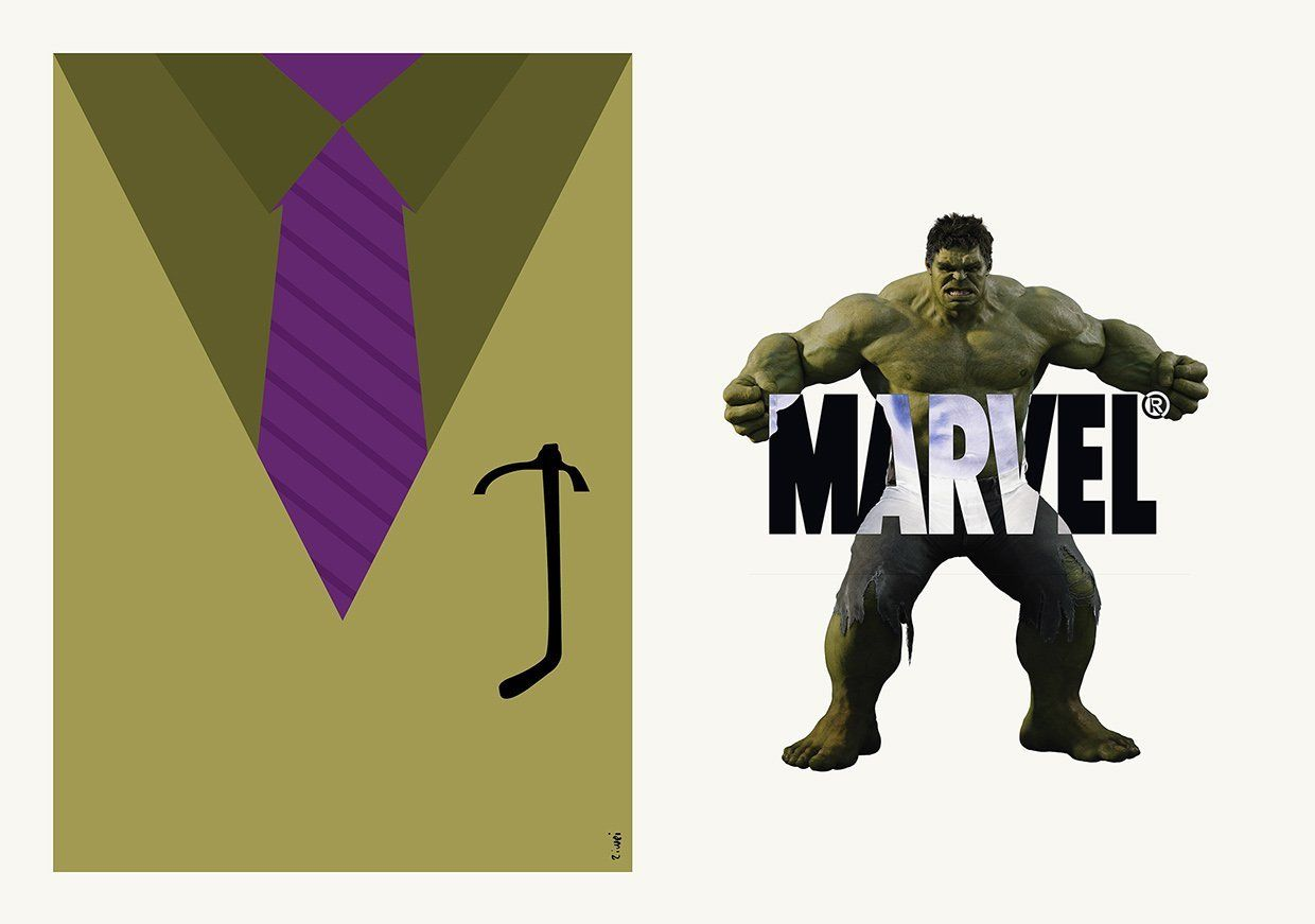 Hulk Bruce Banner suit and tie Zi Wei Tan costard cravate avengers