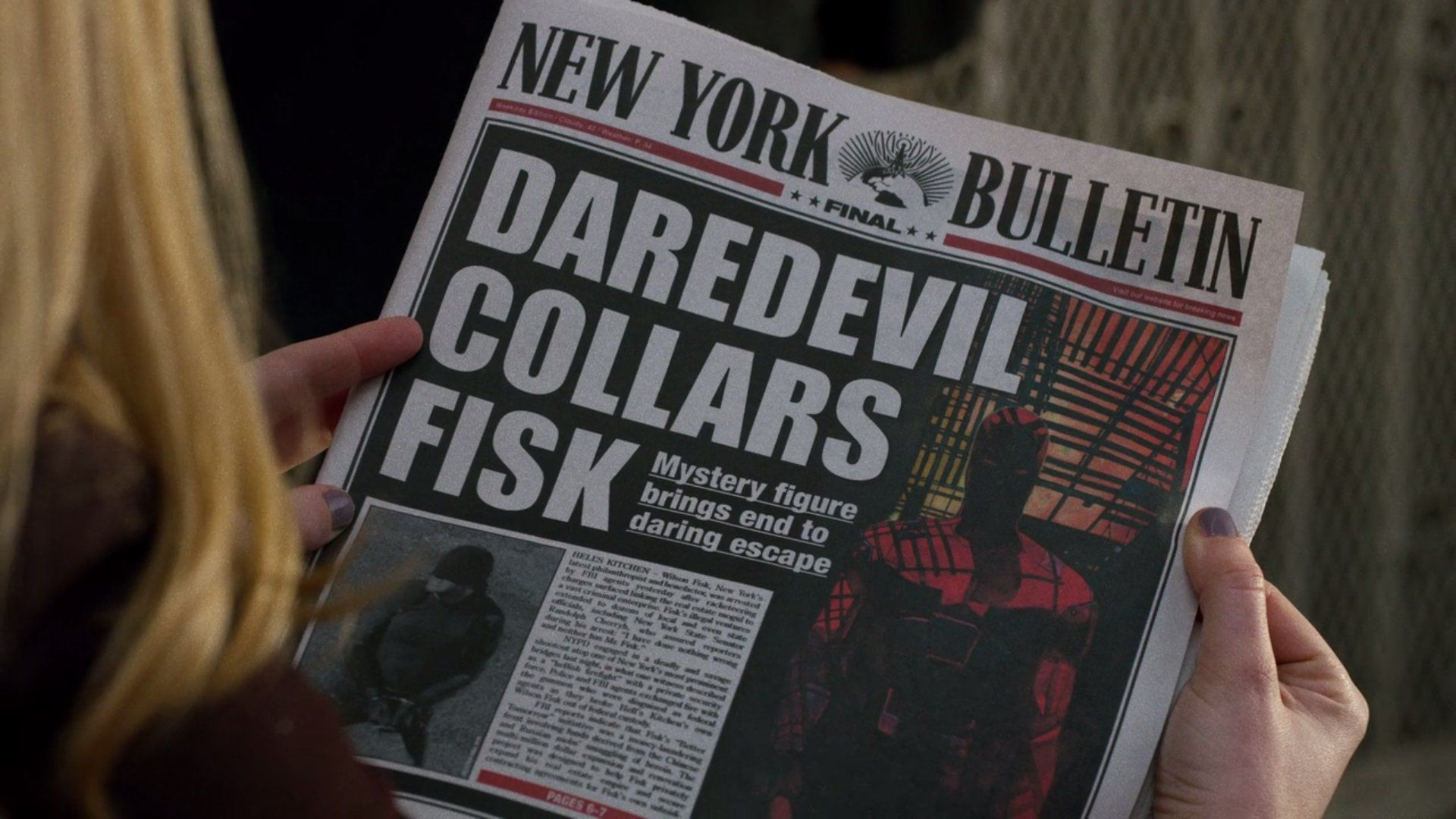 Une New York Bulletin Daredevil collars Fisk close up Alex Maleev easter egg daredevil serie 113 pix geeks
