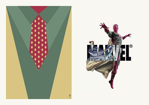 Vision suit and tie Zi Wei Tan costard cravate avengers