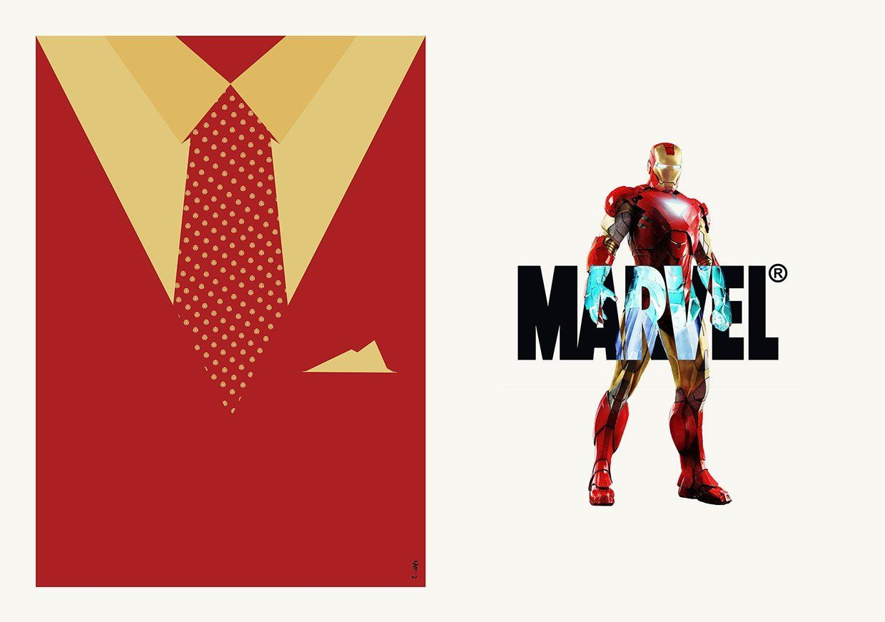 iron man costard suit and tie