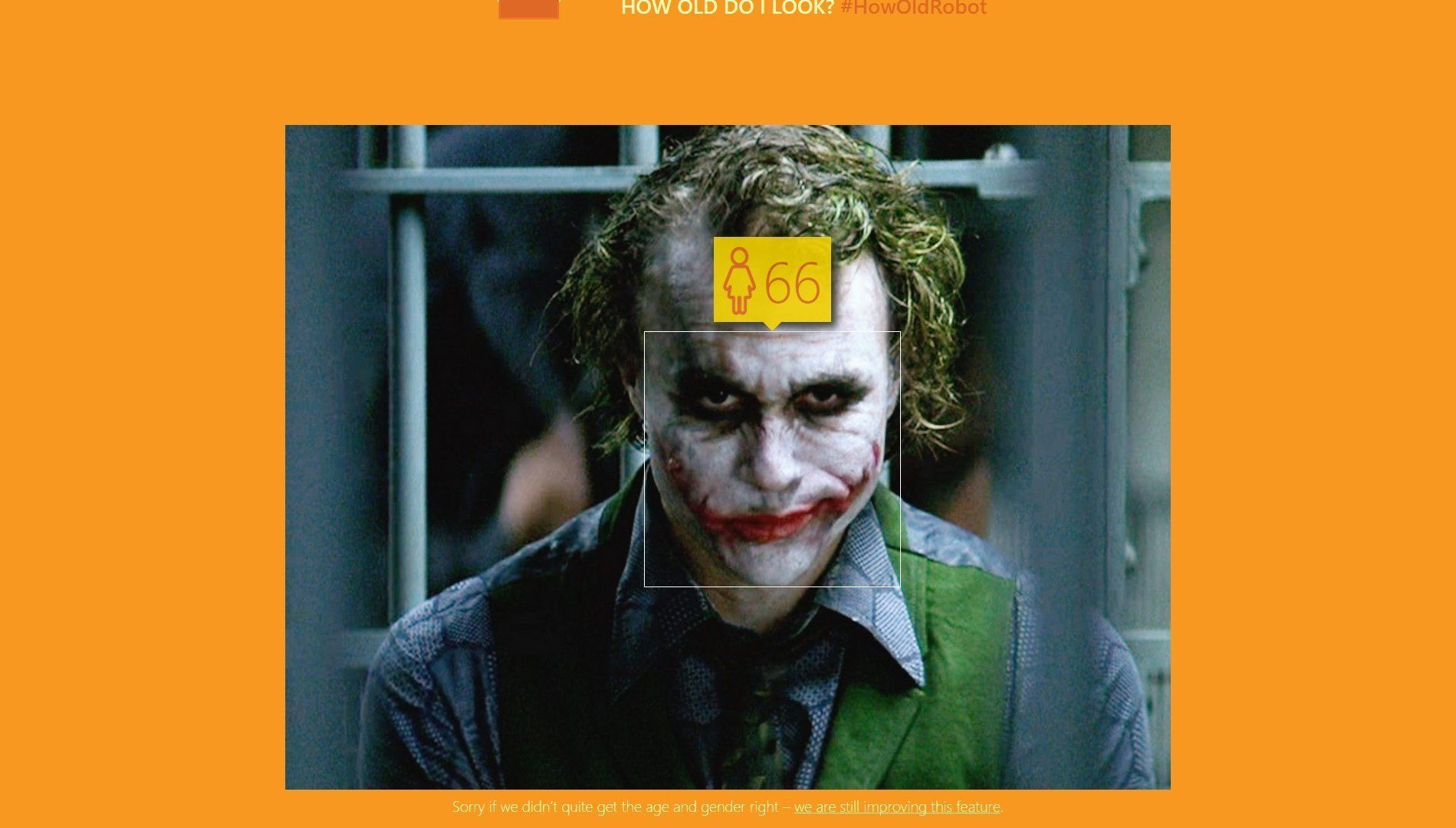Quel age parait Heath Ledger en Joker microsoft how old