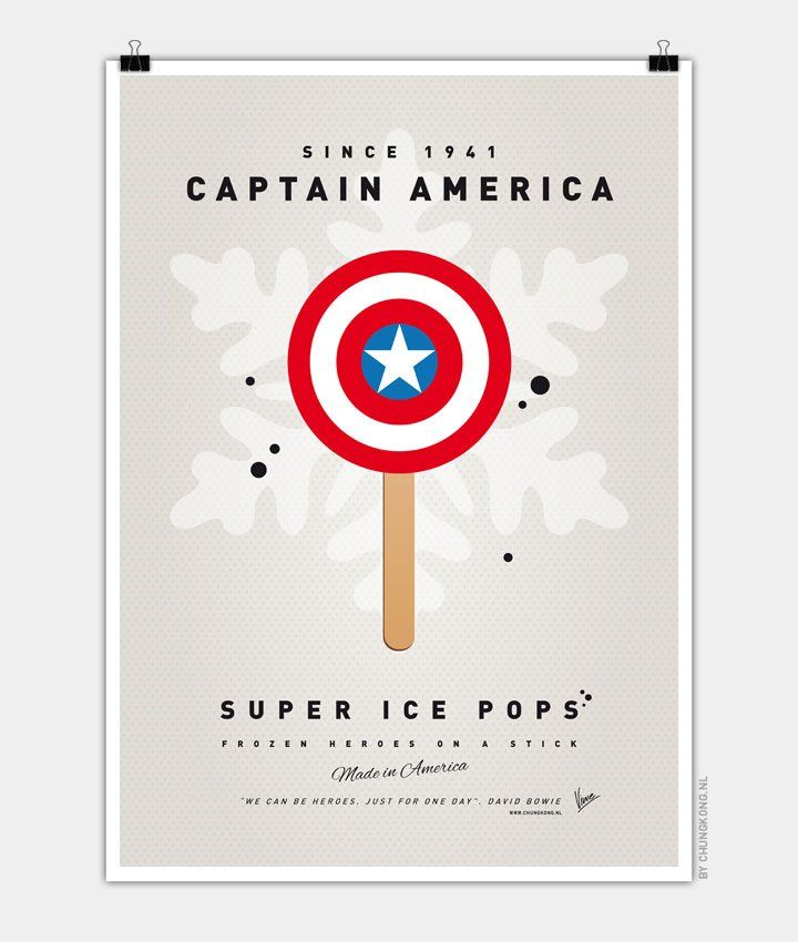 My-SUPER-ICE-POP-Captain America Chungkong glace super héros Steve Rogers
