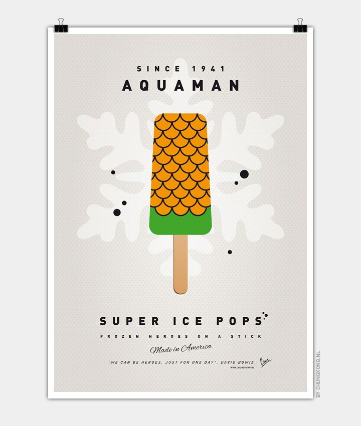 My-SUPER-ICE-POP Chungkong glace super héros Aquaman