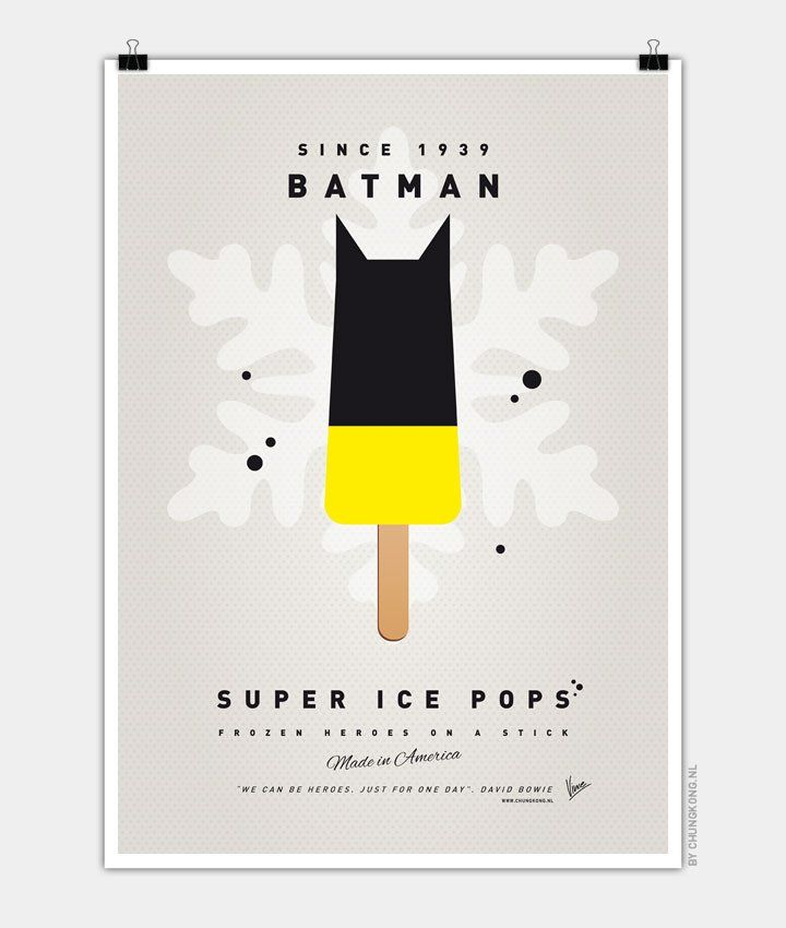 My-SUPER-ICE-POP Chungkong glace super héros Batman Bruce Wayne