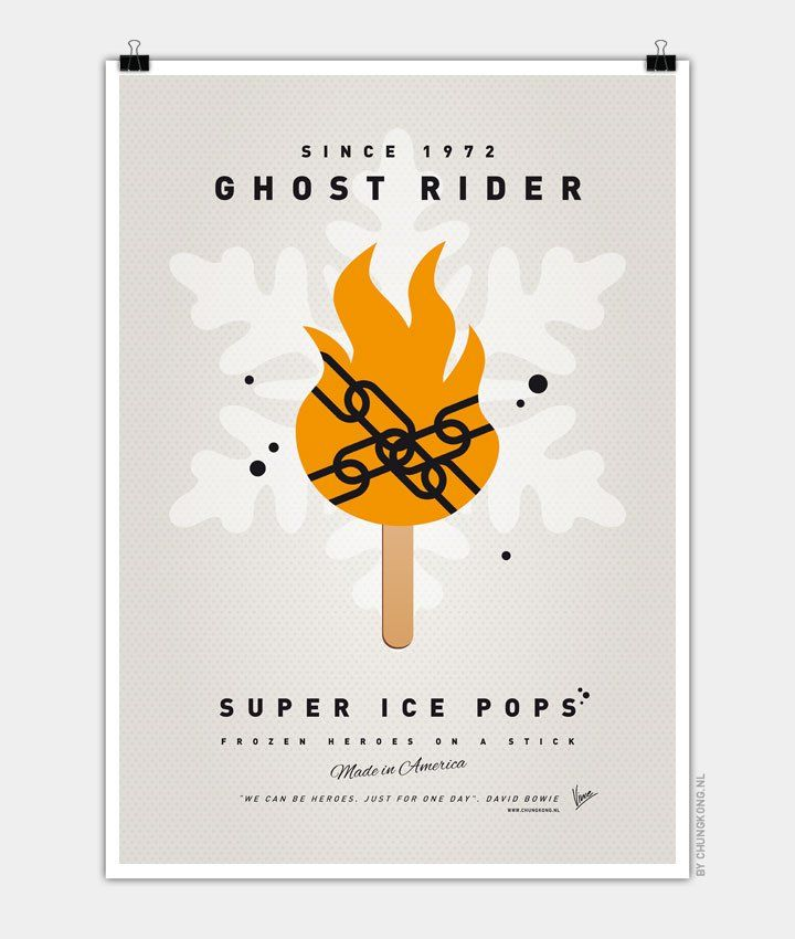 My-SUPER-ICE-POP-Chungkong glace super héros Blaze Ghost Rider