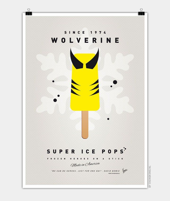My-SUPER-ICE-POP-Chungkong glace super héros Wolverine Marvel Logan Serval