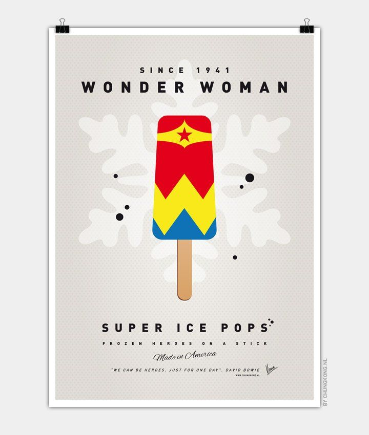 My-SUPER-ICE-POP-Chungkong glace super héros Wonder woman