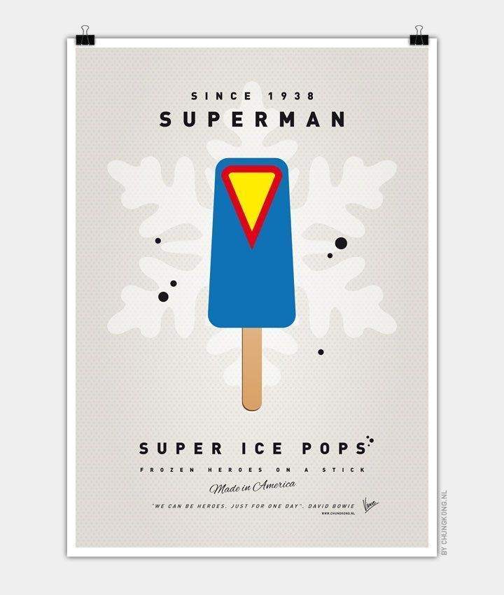 My-SUPER-ICE-POP Chungkong glace super héros superman clark kent
