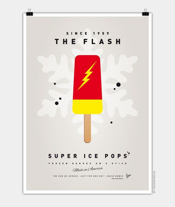 My-SUPER-ICE-POP-The Flash Chungkong glace super héros barry allen