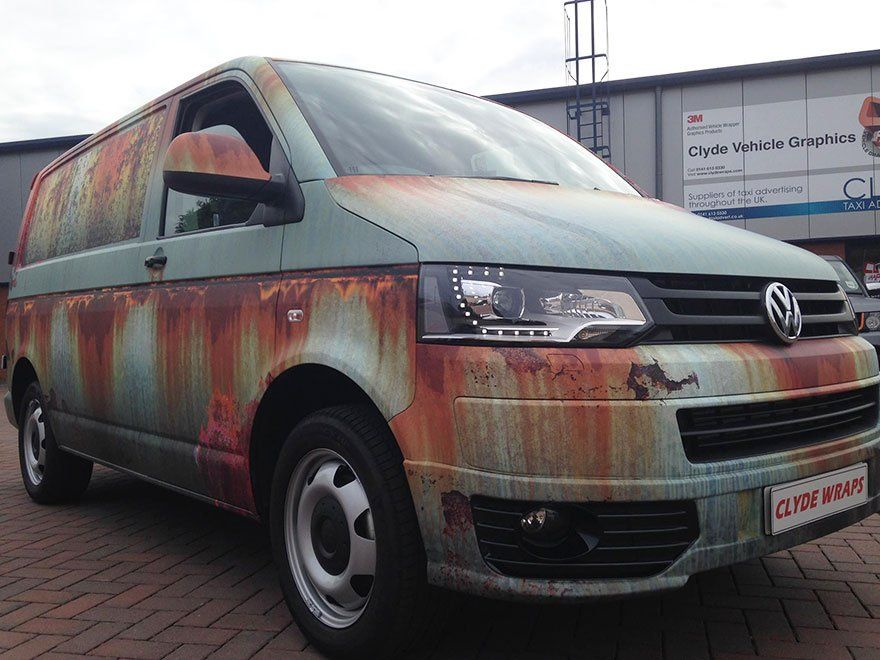 Volkswagen Transporter habillage rouille marquage véhicule clyde's wrap 4