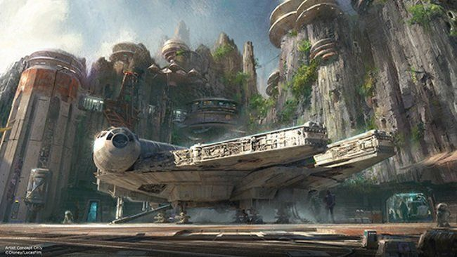 Concept art du parc d'attraction Star Wars