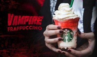 Pour Halloween Starbucks lance le Vampire Frappuccino