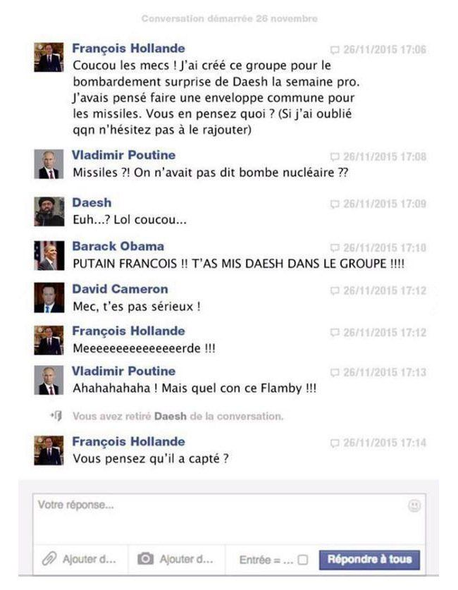 François Hollande combat Daesh sur Facebook