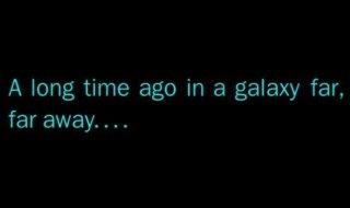 "Tapez ""A long time ago in a galaxy far, far away"" dans Google"