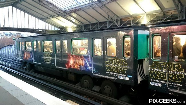 Star Wars Episode VII dans le Metro à Paris #10