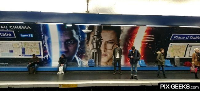 Star Wars Episode VII dans le Metro à Paris #6
