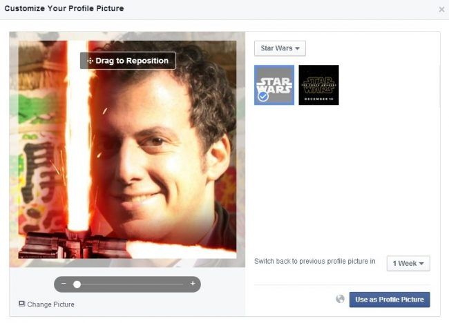 Star Wars : Comment ajouter un sabre laser à votre photo de profil Facebook - 2