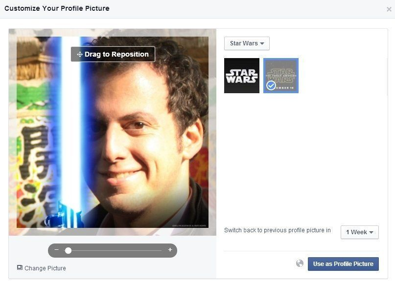 Star Wars : Comment ajouter un sabre laser à votre photo de profil Facebook - 3