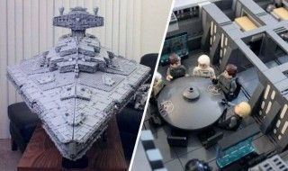 Ce gigantesque Star Destroyer en LEGO mesure 1,4 mètre de long