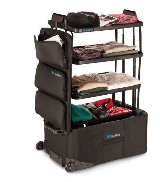 Shelfpack la valise qui se transforme en dressing for Meuble qui se transforme