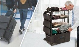 ShelfPack : la valise qui se transforme en dressing