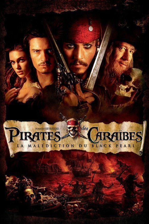 Affiche Pirates des Caraïbes I : La malédiction du Black Pearl