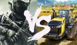 Call Of Duty Infinite Warfare est moins populaire que Farming Simulator 17
