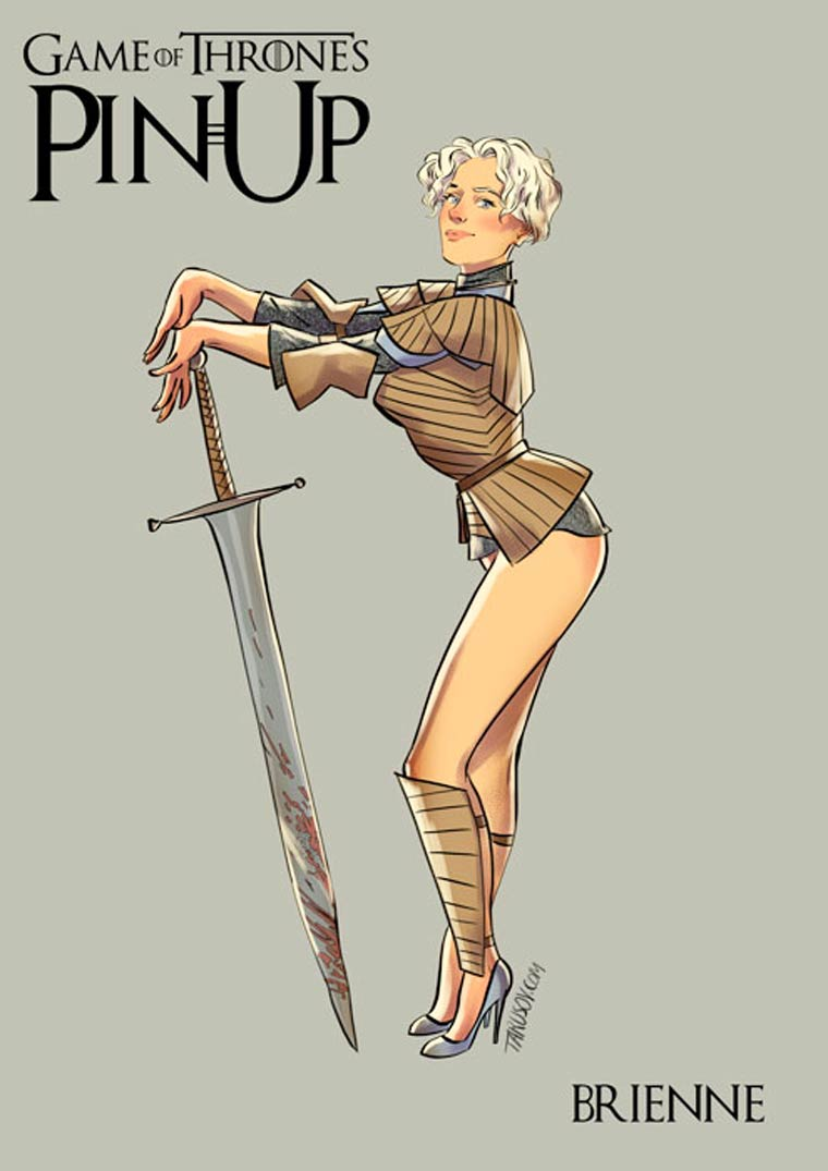 Game of Thrones : découvrez les héroines version pin-up #7