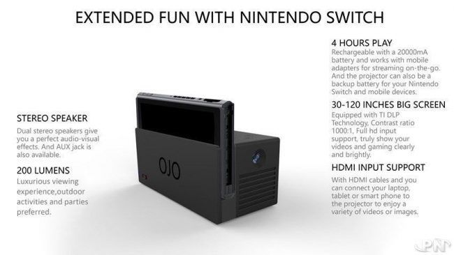 Nintendo Switch : Ojo transforme votre dock en videoprojecteur #2