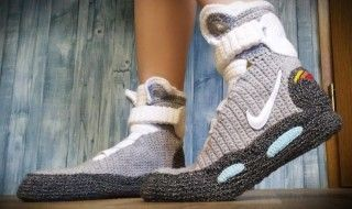 Retour vers le Futur : les Nike Air Mag de Marty maintenant en version chaussons