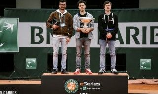 Podium des Roland-Garros eSeries by BNP Paribas