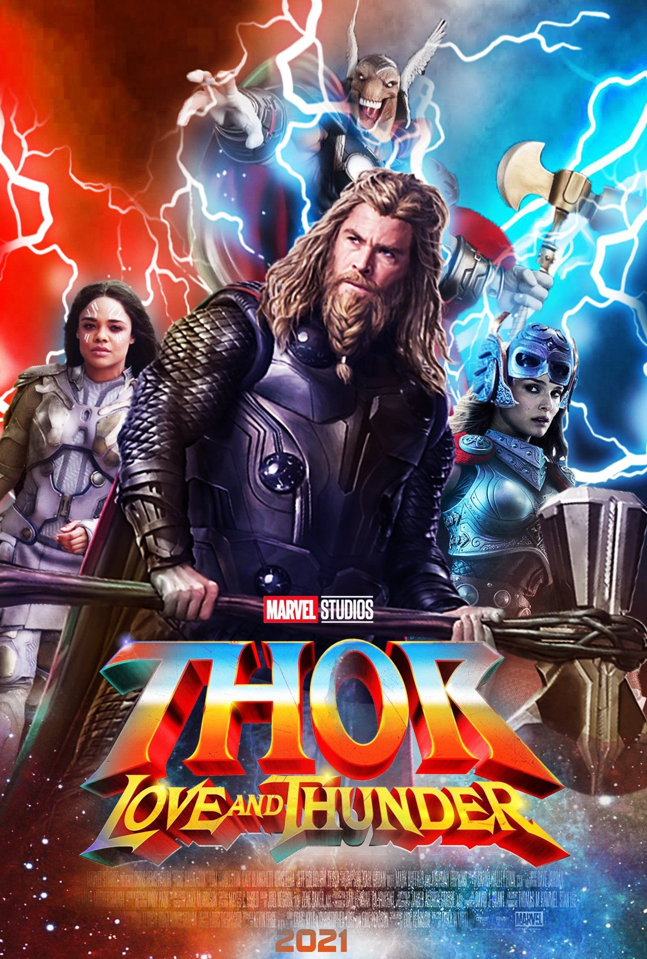 Affiche Thor 4 : Love and Thunder