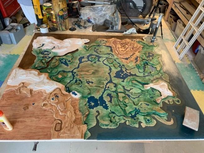 Un fan de Zelda sculpte une gigantesque carte d'Hyrule #6