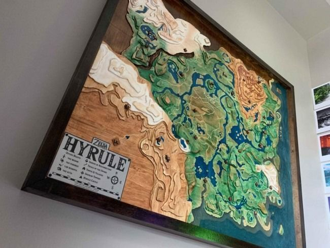 Un fan de Zelda sculpte une gigantesque carte d'Hyrule #2