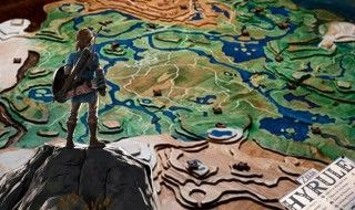 Un fan de Zelda sculpte une gigantesque carte d'Hyrule